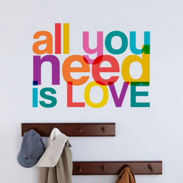 Adesivo de Parede Frase All You Need Is Love N433